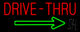 Red Drive-Thru with Green Arrow Neon Sign