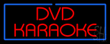 Red DVD Karaoke Blue Border Neon Sign