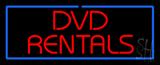 Red DVD Rentals Blue Border LED Neon Sign