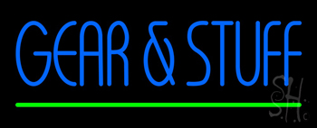 Gear and Stuff Neon Sign