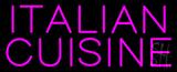 Pink Italian Cuisine Neon Sign