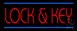 Lock and Key Neon Sign