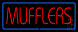 Red Mufflers Blue Line Neon Sign