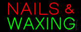 Red Nails and Green Waxing Neon Sign