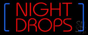 Night Drop Neon Sign