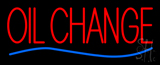 Red Oil Change Blue Line Neon Sign