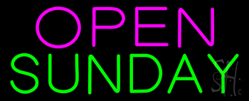 Open Sunday Neon Sign