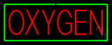 Red Oxygen Green Border Neon Sign