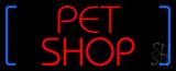 Red Pet Shop Block Neon Sign