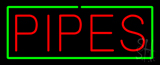 Red Pipes with Green Border Neon Sign