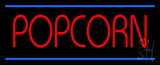 Red Popcorn Blue Lines LED Neon Sign