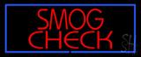 Smog Check Blue Border Neon Sign