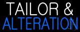 White Tailor and Blue Alteration Neon Sign