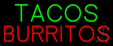Oval Tacos Burritos Neon Sign