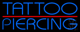 Blue Tattoo Piercing Red Line LED Neon Sign