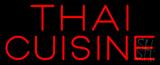 Red Thai Cuisine Neon Sign