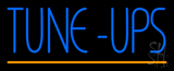 Blue Tune-Ups Yellow Line Neon Sign