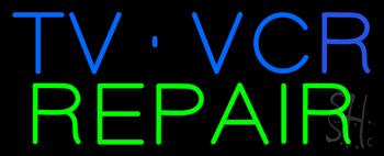TV VCR Repair Neon Sign