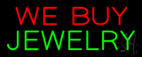 We Buy Jewelry Block Neon Sign