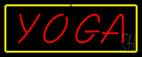 Red Yoga Yellow Border Neon Sign