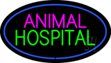 Animal Hospital Blue Oval Neon Sign