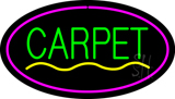 Carpet Oval Purple Neon Sign