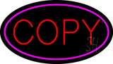 Red Copy Oval Pink Neon Sign