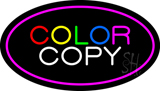 Color Copy Oval Pink Neon Sign