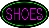 Shoes Oval Green Neon Sign