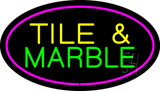 Tile and Marble Oval Purple LED Neon Sign