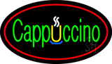 Cappuccino Oval Red Neon Sign