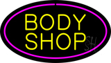 Body Shop Purple Oval LED Neon Sign
