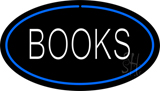 Books Oval Blue Neon Sign