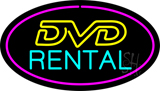 DVD Rental Purple Oval Neon Sign