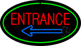 Entrance Oval Green Neon Sign
