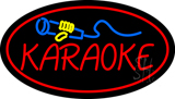 Karaoke Logo Oval Red Neon Sign