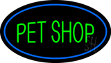 Pet Shop Oval Blue Neon Sign