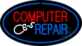 Oval Computer Repair Neon Sign