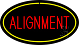 Alignment Yellow Oval Neon Sign