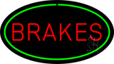 Brakes Green Oval Neon Sign