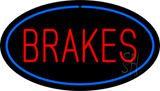 Red Brakes Blue Oval Neon Sign