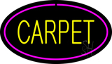Yellow Carpet Oval Pink Border Neon Sign