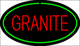 Granite Oval Green Neon Sign