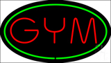 GYM Oval Green Neon Sign