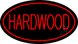 Hardwood Oval Red Neon Sign
