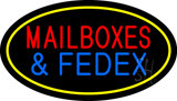 Mailboxes & FedEx Neon Signs