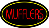 Mufflers Yellow Oval Neon Sign