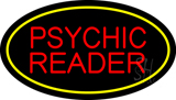Psychic Reader Yellow Oval Neon Sign