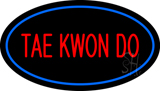 Tae Kwon Do Oval Blue Neon Sign