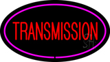 Red Transmission Purple Oval Neon Sign